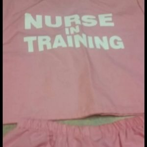 sweet surprises Matching Sets - Infant Nurse In Training outfit